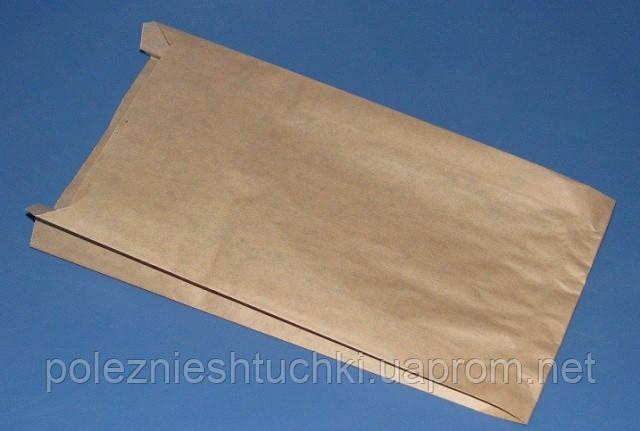 Пакет бумажный с боковой складкой для хлеба 27х16х4 см., 40 г/м2, 1000 шт/ящ бурый крафт (61000)