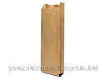 Пакет бумажный с боковой складкой для шаурмы 31х10х4 см., 40 г/м2, 1000 шт/ящ бурый крафт (69000)