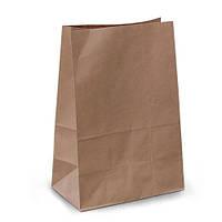 Пакет бумажный с дном 12х8,5х24 см., 50 г/м2, 1000 шт/ящ без ручек, бурый крафт (957000)