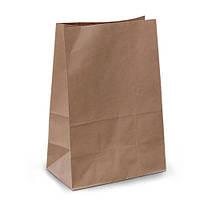 Пакет бумажный с дном 21х11,5х29 см., 50 г/м2, 500 шт/ящ без ручек, бурый крафт (958000)