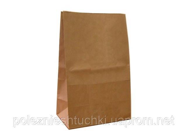Пакет бумажный с дном 17х12х28 см., 50 г/м2, 500 шт/ящ без ручек, бурый крафт (959000)