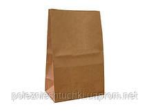 Пакет паперовий з дном 17х12х28 див., 50 г/м2, 500 шт/ящ без ручок, бурий крафт (959000)