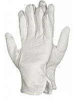 Перчатки для официанта с напылением размер 10, 12 пар трикотажные белые Reis
