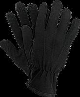 Перчатки для официанта с напылением размер 10 (L), 12 пар трикотажные черные Reis