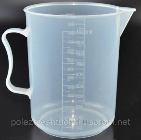 Мірна чаша 1 л. Стеклоприбор, пластикова, поліпропіленова (200943)