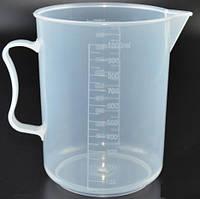 Мерная чаша 1 л. Стеклоприбор, пластиковая, полипропиленовая (200943)