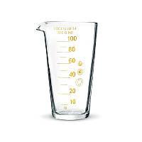 Мензурка (Мерный стакан) 100 мл. шкала 10 мл. стеклянный ГОСТ 1770-74