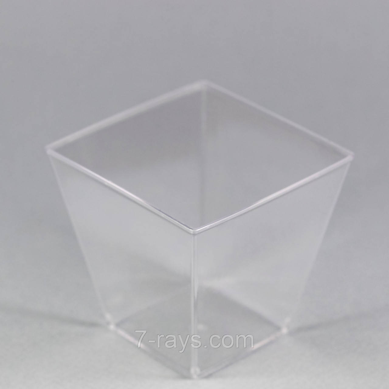"Пиала фуршетная квадратная 200 мл., 7х7х6,5 см., 50 шт/уп стеклоподобная, прозрачная ""Пирамида"""