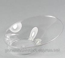 """Пиала одноразовая фуршетная овальная 50 мл., 9,4х7,5х3,3 см., 50 шт/уп стеклоподобная, прозрачная """"Э"""
