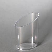 "Піала-форма фуршетна овальна 45 мл, 4,5х3,3х6,5 см, 10 шт/уп стеклоподобная, прозора ""Овал"""