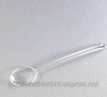 Ложка одноразова фуршетна-десертна 10 див., 100 шт/уп стеклоподобная, прозора