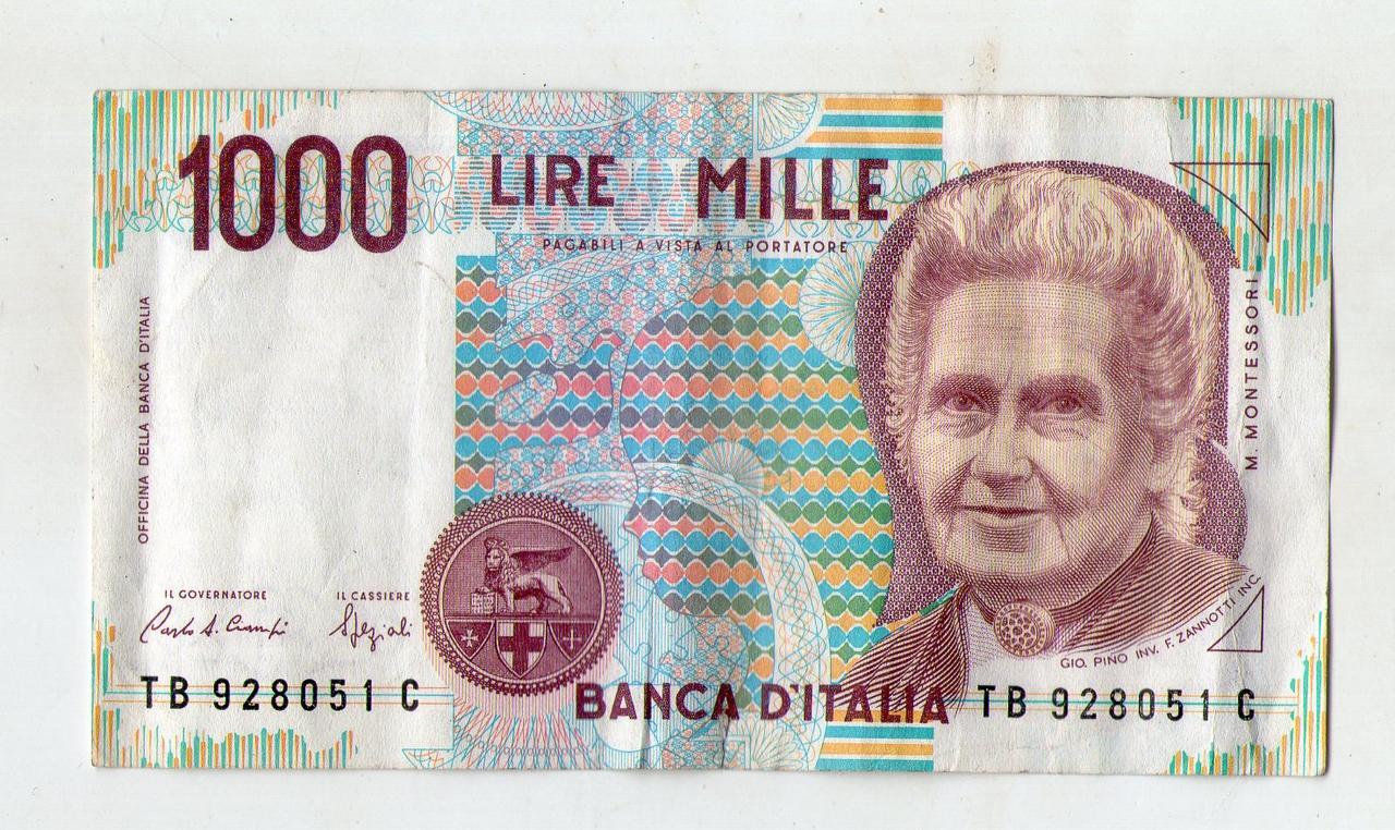 Італія 1000 лір 1990 рік №62