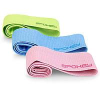 Набор фитнес резинок разной упругости Spokey EMRA (original) эспандеры, ленты для фитнеса