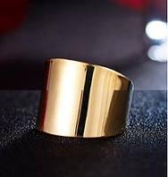 Широкое позолоченное кольцо xuping, 18 р., фото 1