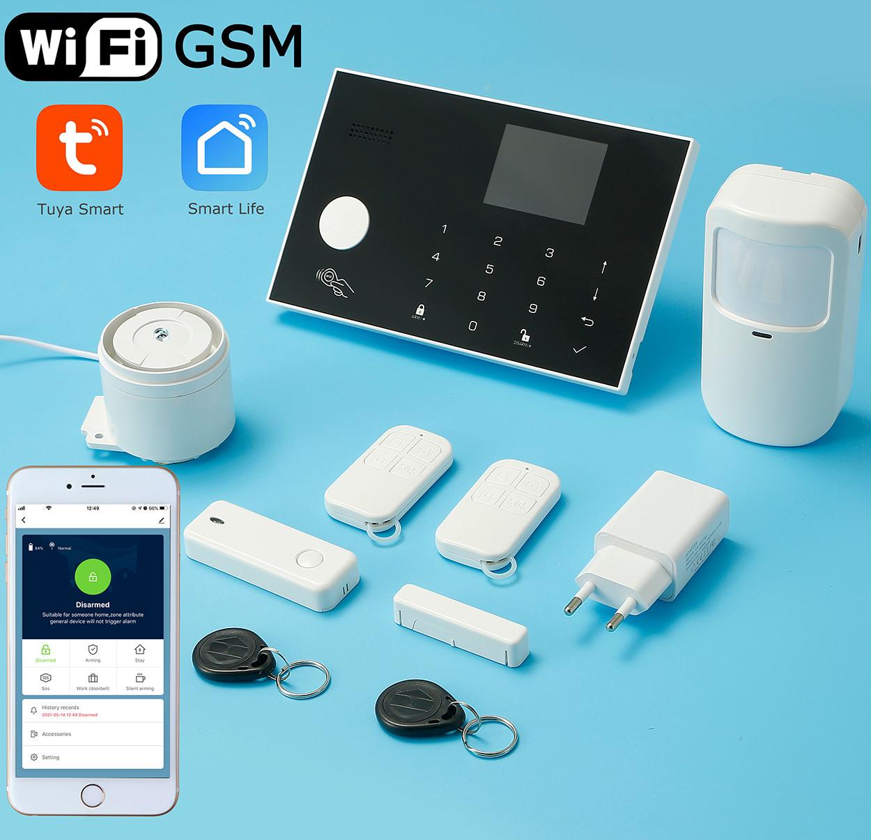 Розумна сигналізація для дому Wi-smart AP18 з Wi-Fi, GSM сигналізація в квартиру