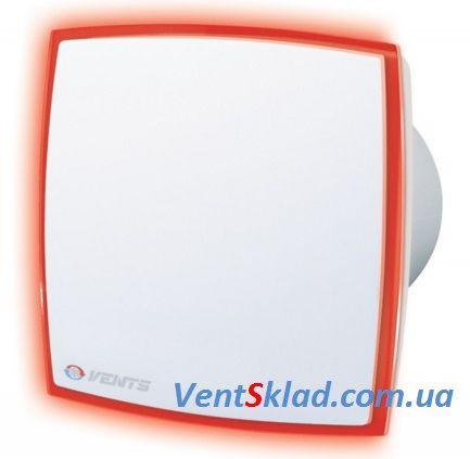 Вытяжной вентилятор с подсветкой Вентс 100 ЛД Лайт красный