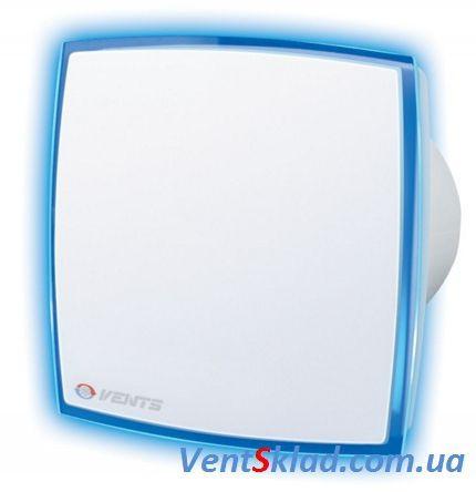 Декоративний витяжний вентилятор Вентс 125 ЛД Лайт синій