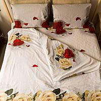 """Комплект постельного белья KrisPol """"Розы на белом"""""""