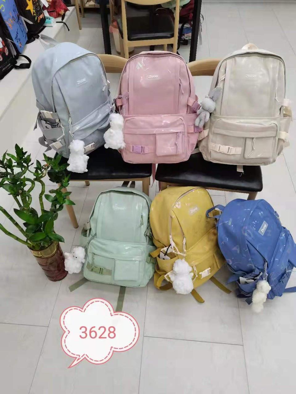 Рюкзак міський модний тканинний з брелоком Овечка в різних кольорах Mark