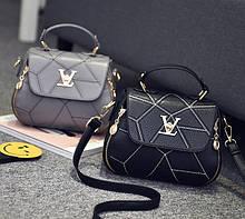 Черная женская сумка кожа ПУ