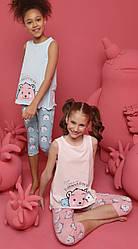 Пижама детская для девочки (майка на широкой бретели+бриджи), Donella (размер 4/5)