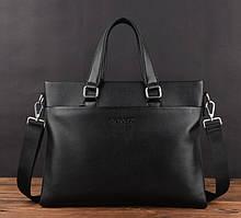 Мужская деловая сумка для документов, мужской портфель формат А4 через плечо эко кожа