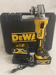 Аккумуляторная болгарка  безщеточная Dewalt DCG405 brushless(+2аккумул.и зарядка)