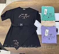 """Костюм літній жіночий, футболка+ велосипедки, розмір S -L (6кол)""""SWEET"""" купити недорого від прямого постачальника"""