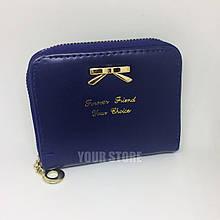 Женский кошелек Бантик синий