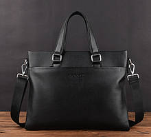 Стильная мужская сумка для ноутбука эко кожа, мужской портфель под ноутбук, планшет, лаптоп, макбук