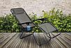 Кресло шезлонг садовое лежак Zero Gravity 120 кг, фото 4