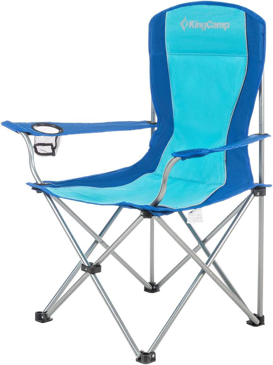 Розкладне крісло KingCamp Arms Chairin Steel Blue (KC3818 Blue)