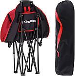 Раскладное кресло KingCamp Moon Leisure Chair Black/Red (KC3816 Black/Red), фото 2