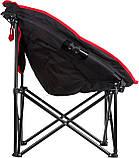 Раскладное кресло KingCamp Moon Leisure Chair Black/Red (KC3816 Black/Red), фото 3