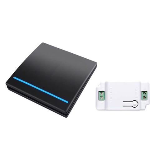 Безпроводовий, 1 кнопка, 1 модуль, WHK01 чорний, 105571