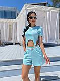 Женский летний костюм футболка и шорты яркие цвета размер: 42-44, 46-48, фото 5