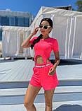 Женский летний костюм футболка и шорты яркие цвета размер: 42-44, 46-48, фото 4