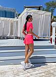 Женский летний костюм футболка и шорты яркие цвета размер: 42-44, 46-48, фото 9