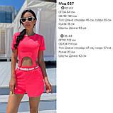 Женский летний костюм футболка и шорты яркие цвета размер: 42-44, 46-48, фото 6