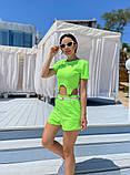 Женский летний костюм футболка и шорты яркие цвета размер: 42-44, 46-48, фото 8