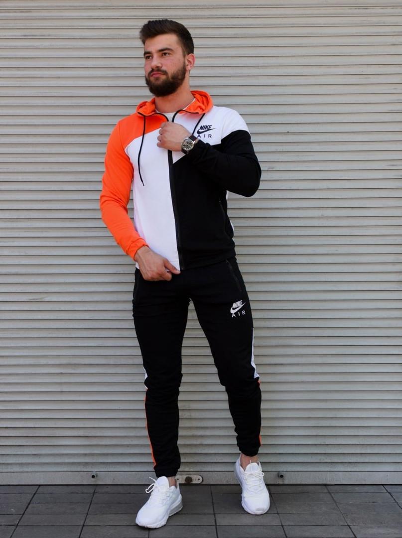 Чоловічий спортивний костюм з капюшоном триколірний Сл 2029