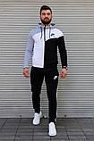 Чоловічий спортивний костюм з капюшоном триколірний Сл 2029, фото 3