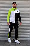 Чоловічий спортивний костюм з капюшоном триколірний Сл 2029, фото 4