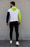 Чоловічий спортивний костюм з капюшоном триколірний Сл 2029, фото 5