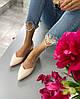 Женские туфли лодочки на низком ходу из лакированной кожи. Размеры 36-40