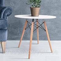 Стол обеденный Lui круглый белый D80 см