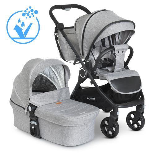 Коляска дитяча універсальна 2в1 ME 1 085 SAGA Gray сіра