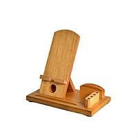 Деревянная подставка-органайзер для телефона Comfort lux (яблоня)