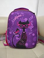 Школьный портфель для девочки 1-4 класс с изображением Кошки 37 см