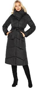 Черная куртка с карманами женская модель 47260